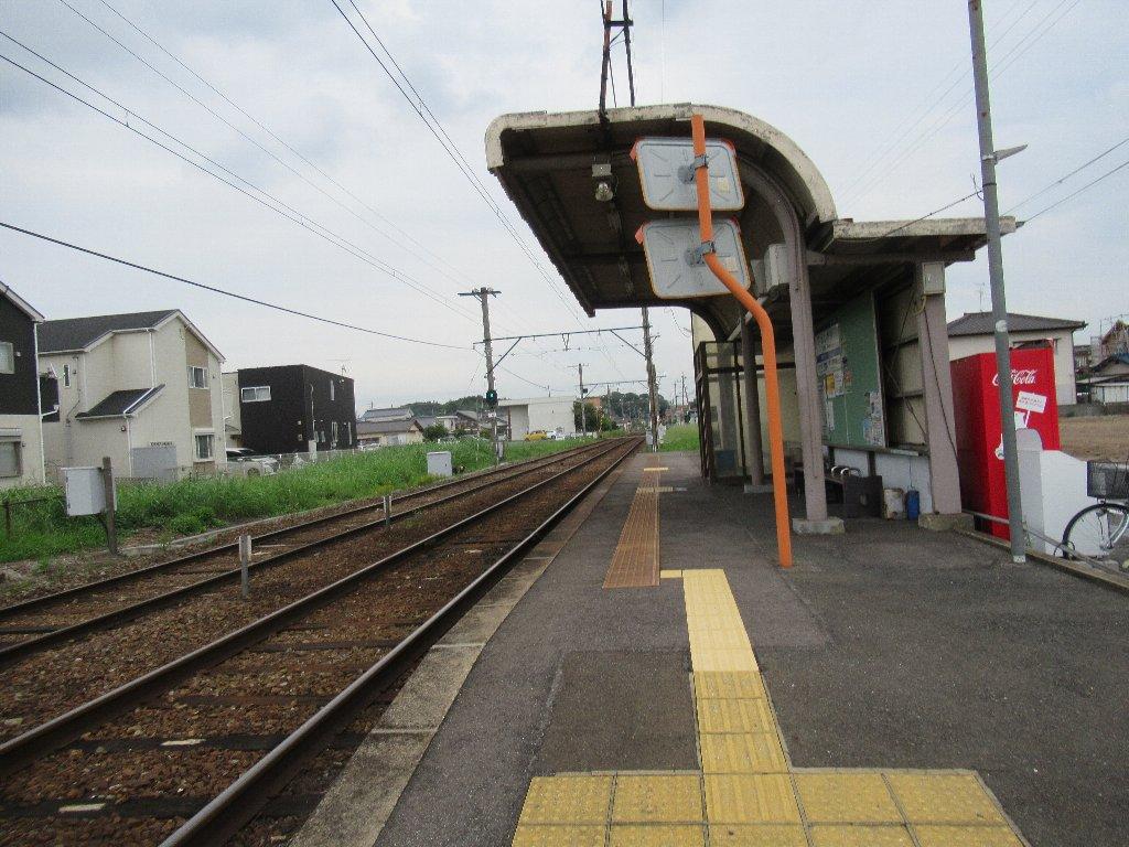 遠賀野駅は、福岡県直方市大字感田にある、筑豊電気鉄道の駅。