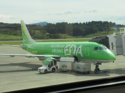 青森空港からFDAで神戸空港に戻ります。