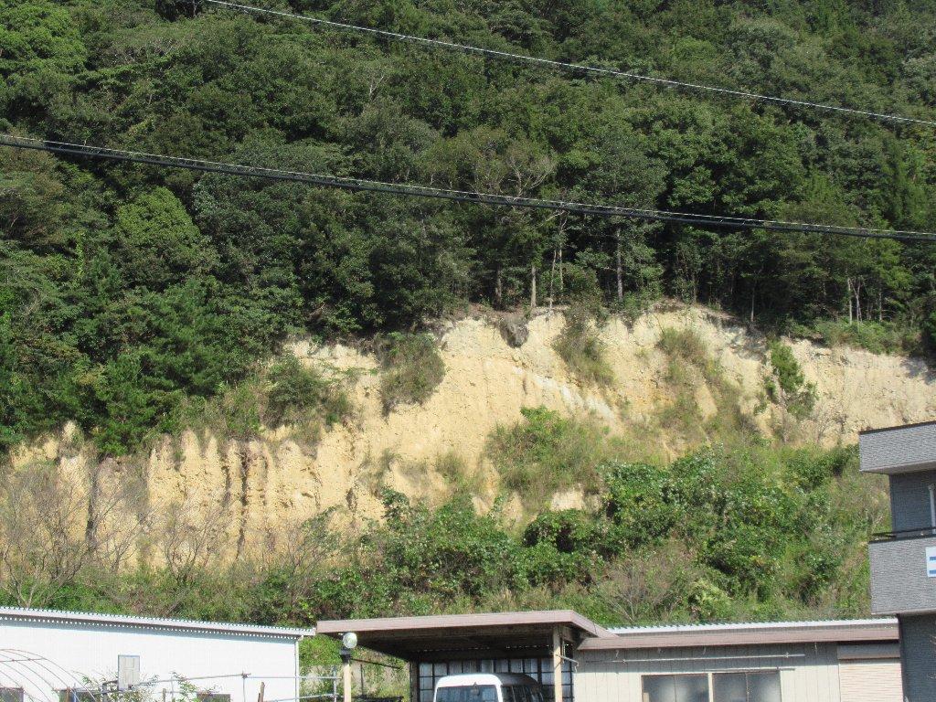 徳島自動車道の阿波PAで、阿波の土柱を一部だけ見ました。