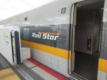 福山駅から岡山駅まで、レールスターで戻ります。
