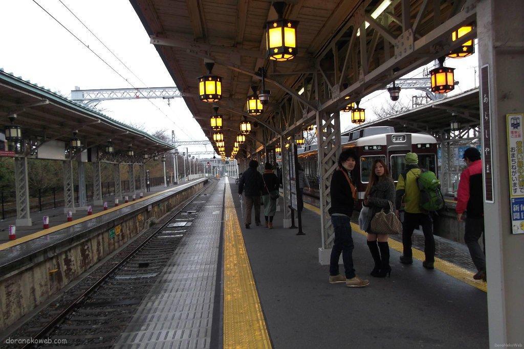 阪急嵐山駅ホーム
