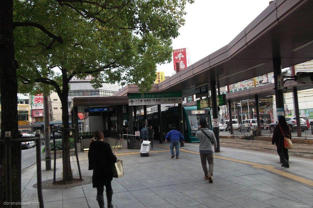 広島駅から銀山町に向かう