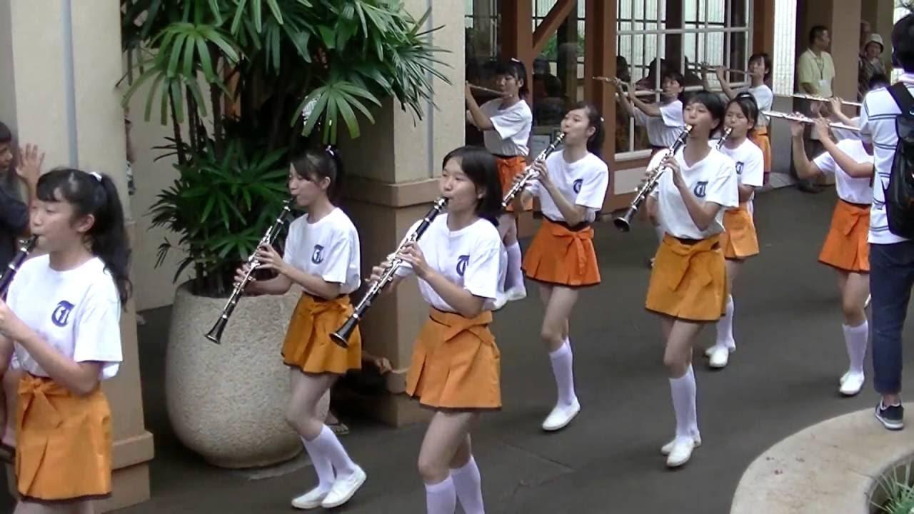 20160819 ハワイ遠征 ① 立奏ステージまでのパレード