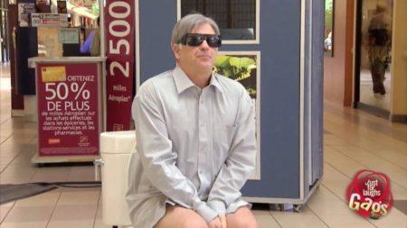 Blind Man Poops In Display Toilet