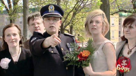 Cop Groom Tickets Drivers At Wedding Prank