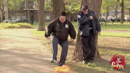 Cop Lights Poop On Fire Gag