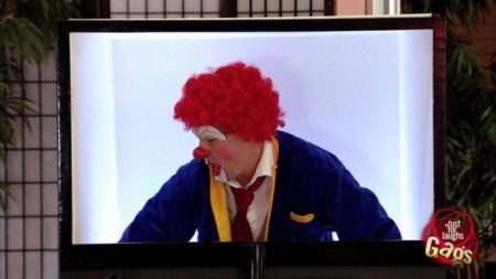 Scary Clown in a Real 3D TV Prank